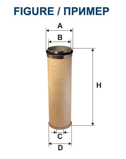 Filtr powietrza AR 200/7W [AR2007W] FILTRON