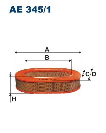 Filtr powietrza AE 345/1 (AE3451) FILTRON
