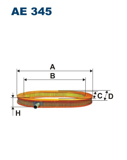 Filtr powietrza AE 345 (AE345) FILTRON