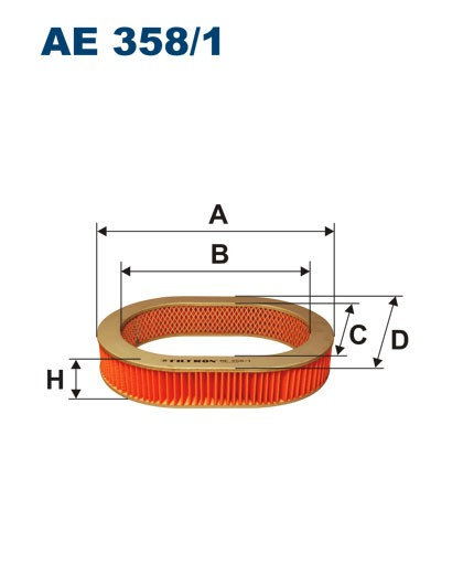 Filtr powietrza AE 358/1 (AE3581) FILTRON