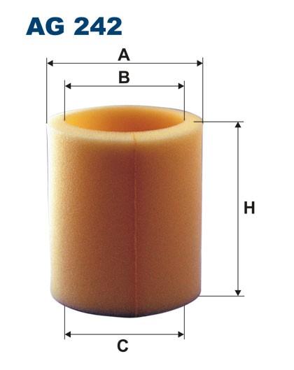 Filtr powietrza AG 242 (AG242) FILTRON