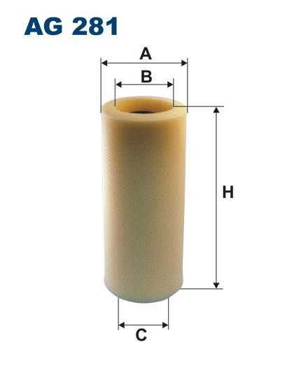 Filtr powietrza AG 281 (AG281) FILTRON