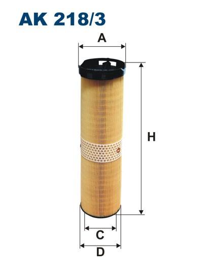 Filtr powietrza AK 218/3 (AK2183) FILTRON