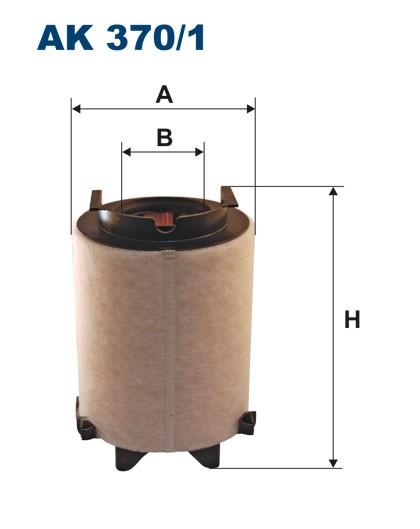 Filtr powietrza AK 370/1 (AK3701) FILTRON