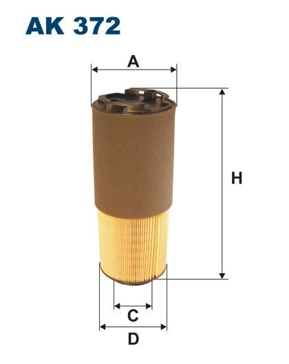 Filtr powietrza AK 372 (AK372) FILTRON
