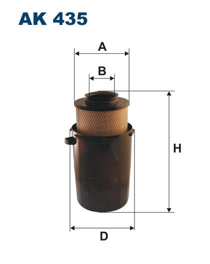 Filtr powietrza AK 435 (AK435) FILTRON