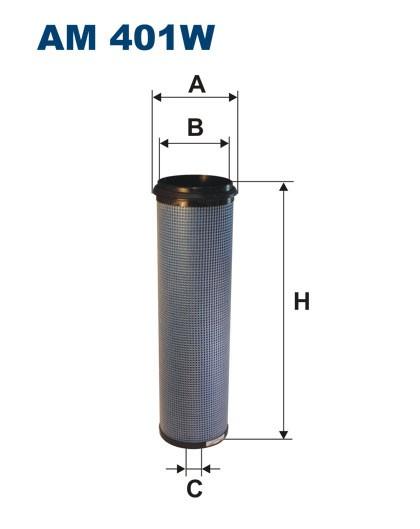Filtr powietrza AM 401W [AM401W] FILTRON