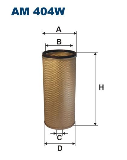 Filtr powietrza AM 404W [AM404W] FILTRON