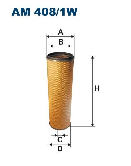 Filtr powietrza AM 408/1W [AM4081W] FILTRON