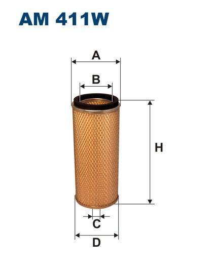 Filtr powietrza AM 411W [AM411W] FILTRON