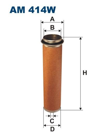 Filtr powietrza AM 414W [AM414W] FILTRON