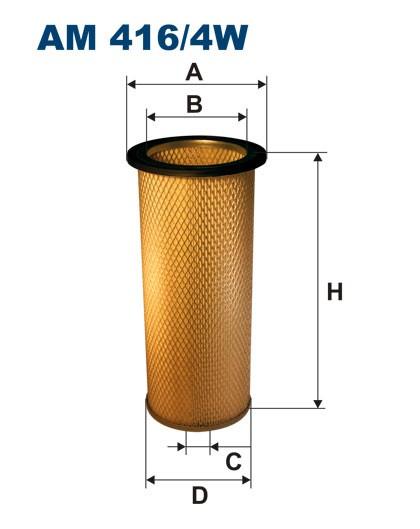 Filtr powietrza AM 416/4W [AM4164W] FILTRON