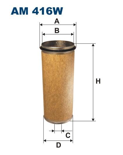 Filtr powietrza AM 416W [AM416W] FILTRON