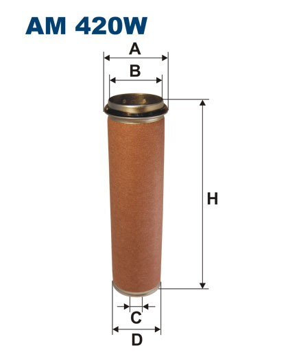 Filtr powietrza AM 420W [AM420W] FILTRON