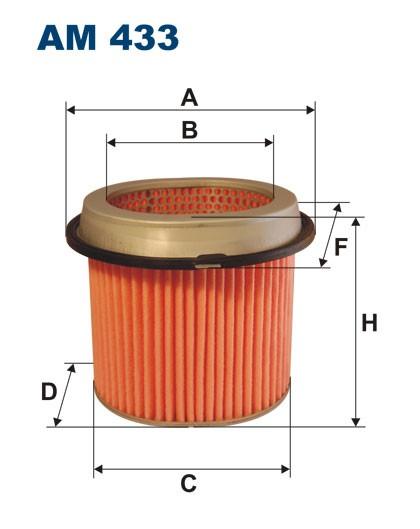 Filtr powietrza AM 433 [AM433] FILTRON