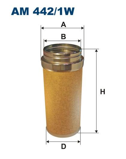 Filtr powietrza AM 442/1W [AM4421W] FILTRON