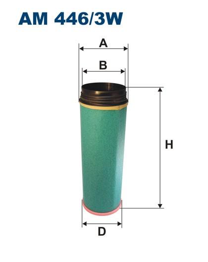 Filtr powietrza AM 446/3W [AM4463W] FILTRON