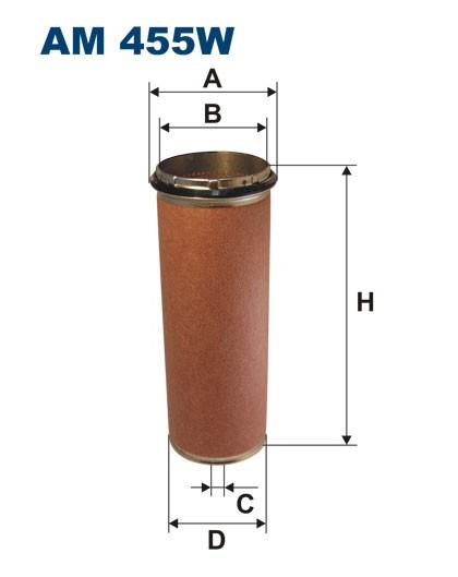 Filtr powietrza AM 455W [AM455W] FILTRON