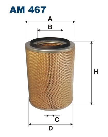 Filtr powietrza AM 467 [AM467] FILTRON