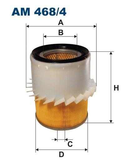 Filtr powietrza AM 468/4 [AM4684] FILTRON