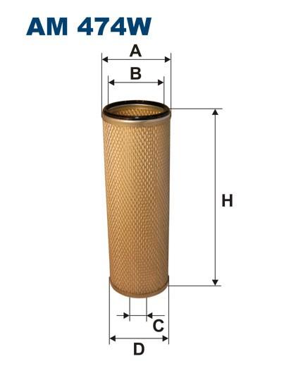 Filtr powietrza AM 474W [AM474W] FILTRON