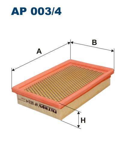 Filtr powietrza AP 003/4 [AP0034] FILTRON