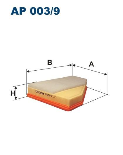 Filtr powietrza AP 003/9 [AP0039] FILTRON