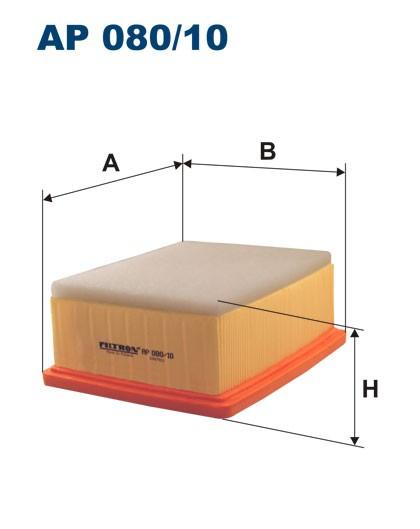 Filtr powietrza AP 080/10 [AP08010] FILTRON