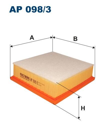 Filtr powietrza AP 098/3 [AP0983] FILTRON