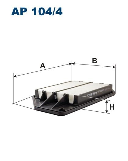 Filtr powietrza AP 104/4 [AP1044] FILTRON