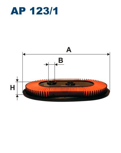Filtr powietrza AP 123/1 [AP1231] FILTRON