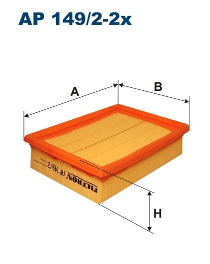 Filtr powietrza AP 149/2-2x [AP14922X] FILTRON
