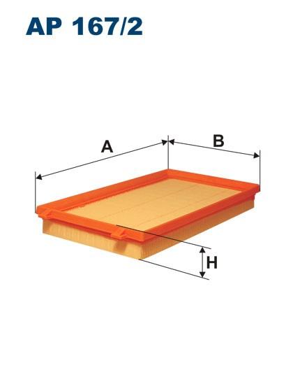 Filtr powietrza AP 167/2 [AP1672] FILTRON