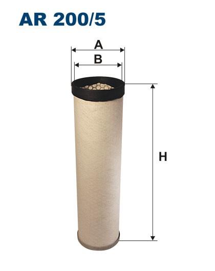 Filtr powietrza AR 200/5W [AR2005W] FILTRON