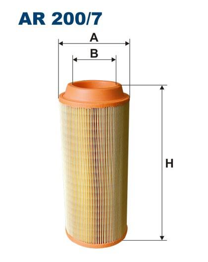 Filtr powietrza AR 200/7 [AR2007] FILTRON