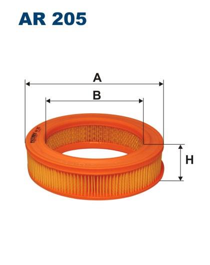 Filtr powietrza AR 205 [AR205] FILTRON
