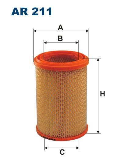 Filtr powietrza AR 211 [AR211] FILTRON