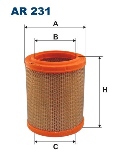 Filtr powietrza AR 231 [AR231] FILTRON