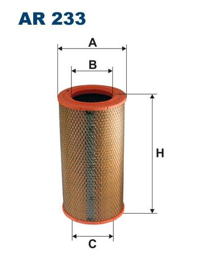 Filtr powietrza AR 233 [AR233] FILTRON