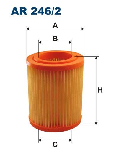 Filtr powietrza AR 246/2 [AR2462] FILTRON