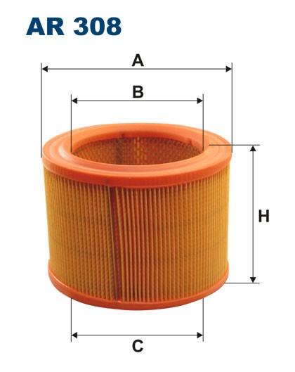 Filtr powietrza AR 308 [AR308] FILTRON