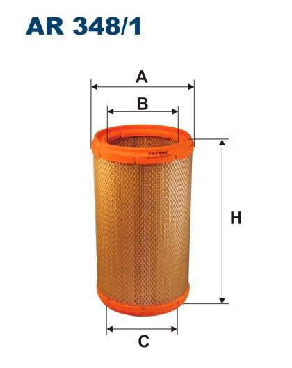 Filtr powietrza AR 348/1 [AR3481] FILTRON