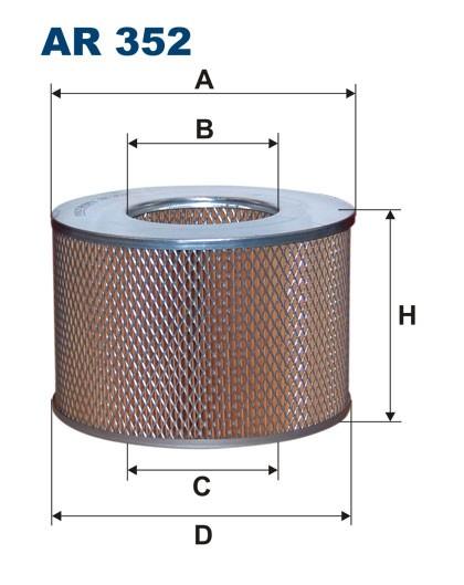 Filtr powietrza AR 352 [AR352] FILTRON