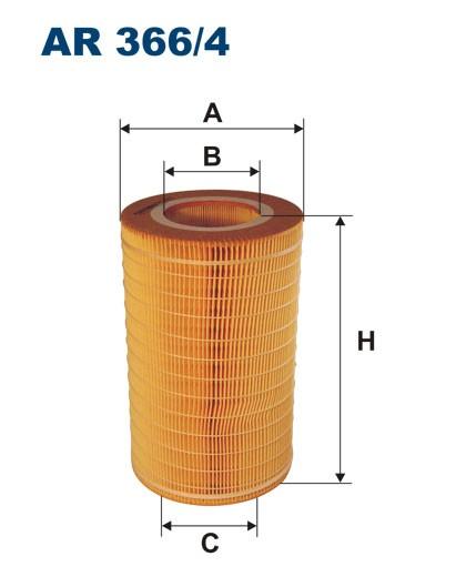 Filtr powietrza AR 366/4 [AR3664] FILTRON