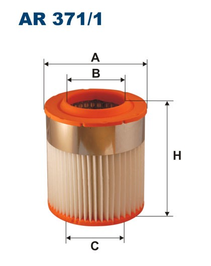 Filtr powietrza AR 371/1 [AR3711] FILTRON