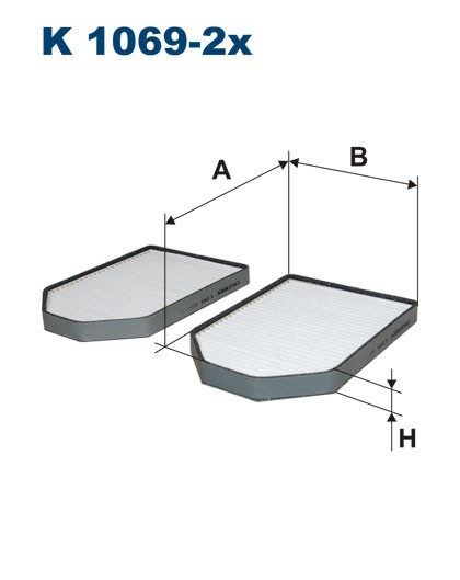 Filtr kabinowy K 1069-2x (K10692X) FILTRON