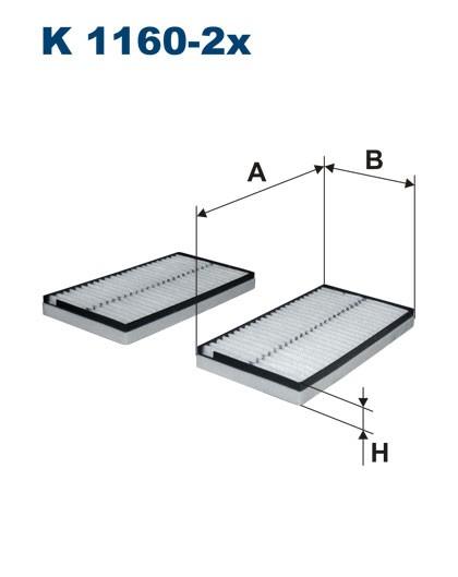 Filtr kabinowy K 1160-2x (K11602X) FILTRON