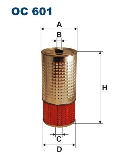 Filtr oleju OC 601 (OC601) FILTRON