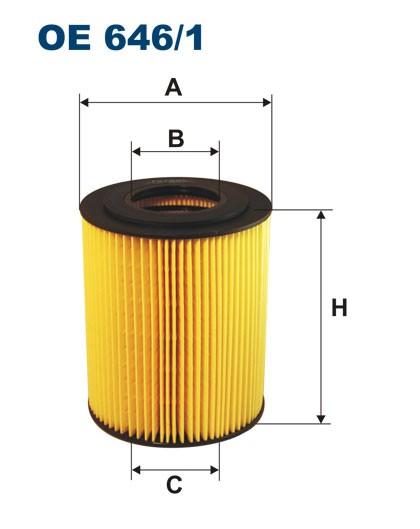 Filtr oleju OE 646/1 (OE6461) FILTRON