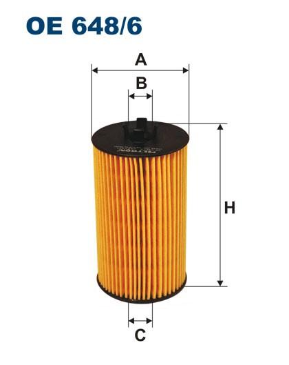 Filtr oleju OE 648/6 (OE6486) FILTRON